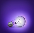 Light Bulb On Purple Background Stock Photos - 29244973