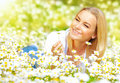Girl On Daisy Glade Stock Images - 29258714