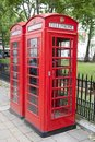 Traditional Red Telephone Box, London Royalty Free Stock Image - 29265326
