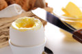 Boiled Egg, Croissant And Butter Stock Photos - 29277463
