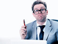 Crazy And Funny Manager Stressed At Work Stock Photography - 29281852