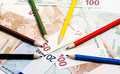 Pencils And Euro Royalty Free Stock Photo - 29289005