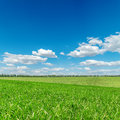 Green Fields And Cloudy Sky Stock Photos - 29293053