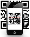 Smartphone Scanning Code Out Of Focus Stock Photography - 29294442