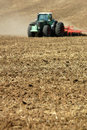 Tractor Ploughing Field Royalty Free Stock Image - 2939506