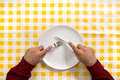 Hungry Man At The Dinner Table Stock Photo - 29306000