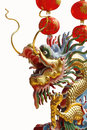 Chinese Dragon On White Backgrounds. Royalty Free Stock Image - 29308986