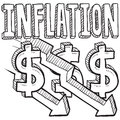 Inflation Decreasing Sketch Stock Photo - 29310380