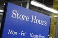 Store Hours Sign Royalty Free Stock Photos - 29316408