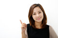 Close-up Of A Young Woman Pointing Royalty Free Stock Image - 29317876