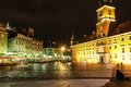 Castle Square At Night. Warsaw. Poland Stock Images - 29321344