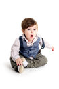 Baby Child Surprised Look Stock Images - 29333724