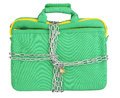 Laptop In Bag Locked With Chains Stock Images - 29357294