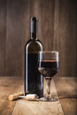 Red Wine Bottle And Glass Royalty Free Stock Image - 29361196