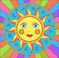 Abstract Sun With  Zodiac Signs Stock Images - 29365144