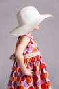 Little Girl In A Fashionable Hat Royalty Free Stock Photo - 29367405