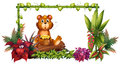 A Bear Above A Trunk In The Garden Stock Images - 29373624