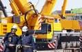 Giant Mobile Construction Cranes Royalty Free Stock Image - 29388496