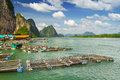 Fisherman Nets In Koh Panyee Settlement, Thailand Royalty Free Stock Image - 29397166