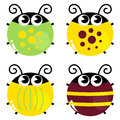 Cute Colorful Beetle Set Stock Images - 29413004