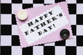Fathers Day Card On Chessboard - Stock Photo Royalty Free Stock Photography - 29413487
