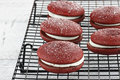 Red Velvet Whoopie Pies 2 Stock Photos - 29421743