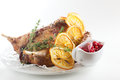 Peaces Of Meat With Garnish Stock Photography - 29425502