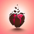 Abstract Chocolate Candy Heart  Object Stock Photo - 29425540