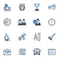 School And Education Icons, Set 3 - Blue Series Royalty Free Stock Images - 29425749