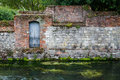 Old Stone Wall On River Royalty Free Stock Images - 29433589