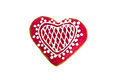 Heart Shaped Gingerbread Cookie Isolated Royalty Free Stock Image - 29440156