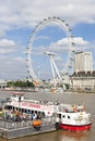 City Cruise Boat And London Eye On River Thames Stock Photo - 29441260