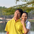 Happy Mother And Father In The Park Stock Photography - 29453872