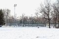 Snow Tennis Court Royalty Free Stock Photography - 29459967