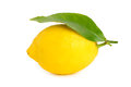 Fresh Lemon With Green Leaf Stock Images - 29466634
