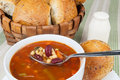 Bowl Of Minestrone Soup Royalty Free Stock Image - 29475576