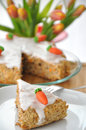 Rübitorte - German Carrot Cake For Easter Royalty Free Stock Photos - 29475878
