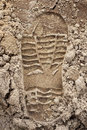 Footprint Shoe On Sand Stock Photography - 29476612
