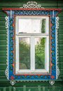 Window Of Old Traditional Russian Wooden House. Stock Images - 29502834