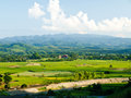 Paddy Field And Moutain View Mae Suay Reservoir, Chiang Rai Royalty Free Stock Photos - 29504568