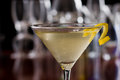 Dirty Martini With A Lemon Twist Royalty Free Stock Photos - 29506358