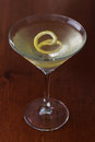 Dirty Martini With A Lemon Twist Royalty Free Stock Photos - 29506368