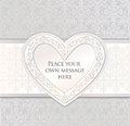 Greeting Card. Love Heart Frame For Valentine Day  Royalty Free Stock Images - 29506419