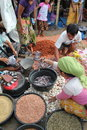 Buyers And Sellers At A Traditional Market In Lombok Indonesia Royalty Free Stock Image - 29514226