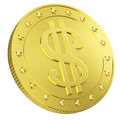 Gold Coin With Dollar Sign Stock Image - 29518211