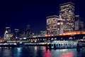 Ferry Pier Night Scene - Port Of San Francisco Royalty Free Stock Photography - 29532477