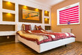 Master Bedroom Interior With White Bed Stock Photo - 29536440