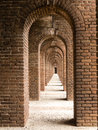 Brick Arches At Fort Jefferson Royalty Free Stock Photo - 29543795