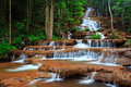 Waterfall In Tropical Forest, West Of Thailand Royalty Free Stock Image - 29544916