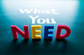 What You Need Concept Stock Photography - 29545082